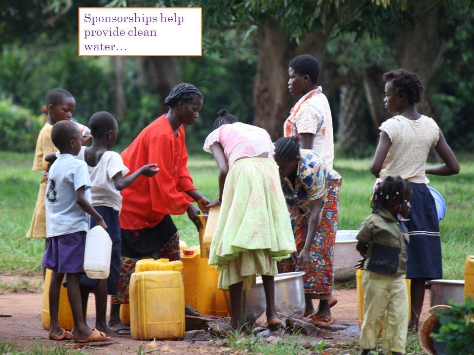 Sponsorships help provide clean water…