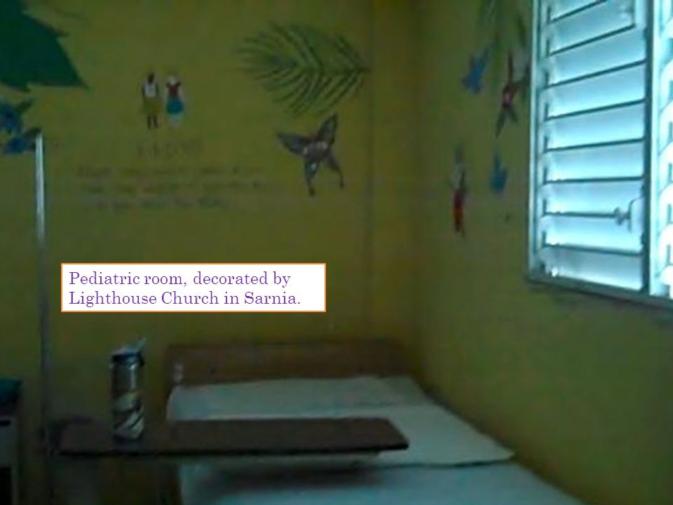 Pediatric room, decorated by Lighthouse Church in Sarnia.