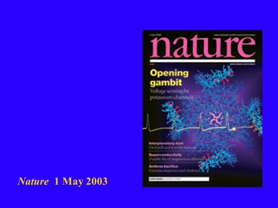 Nature 1 May 2003