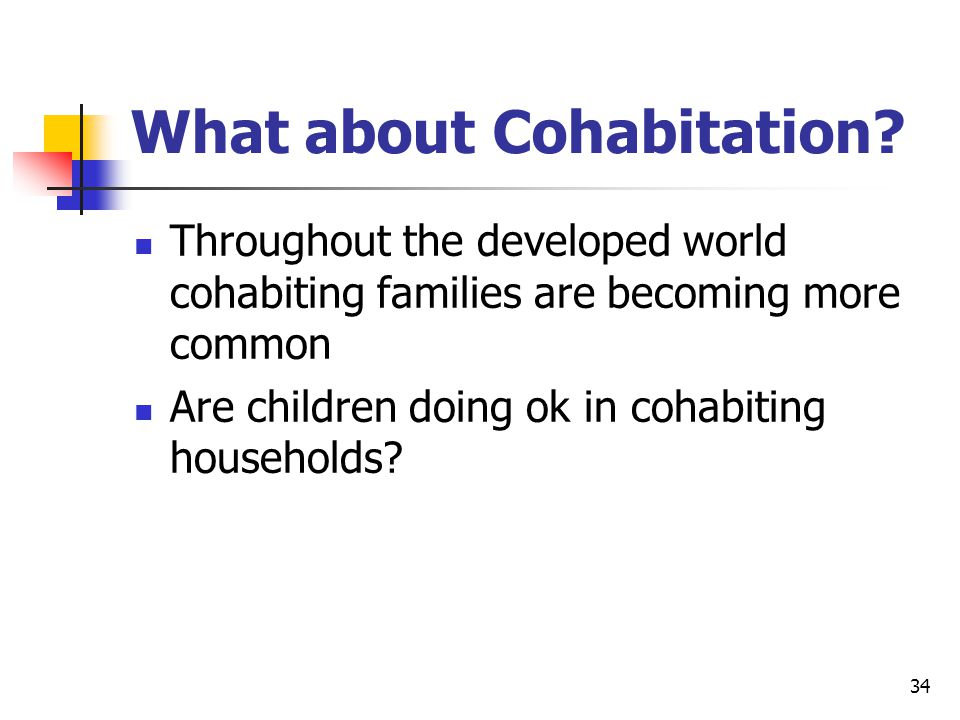 34 What about Cohabitation.