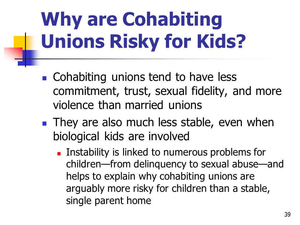 39 Why are Cohabiting Unions Risky for Kids.
