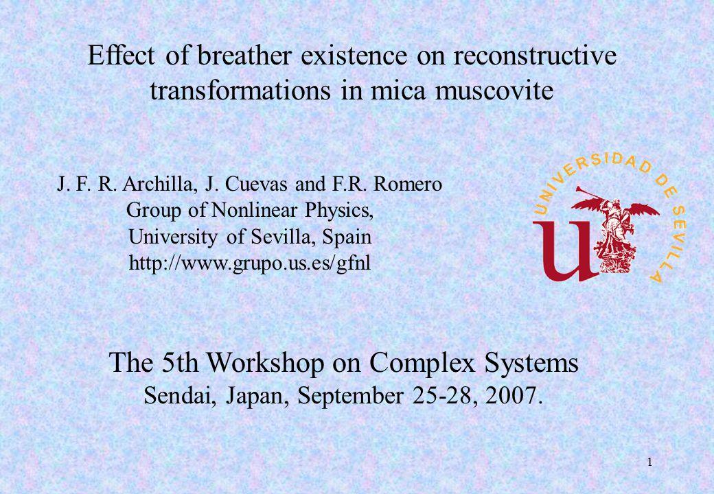 JFR Archilla, Sendai, Japan September 25-28, 2007 2 300° C, 3 days Lu 3+ Reconstructive transformation of muscovite Muscovite Disilicate of Lutetium Lu 2 Si 2 O 7 K 2 [Si 6 Al 2 ] IV [Al 4 ] VI O 20 (OH) 4 About 36% of muscovite is transformed K+K+