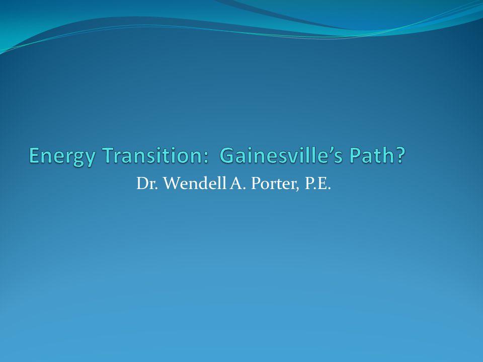 Dr. Wendell A. Porter, P.E.