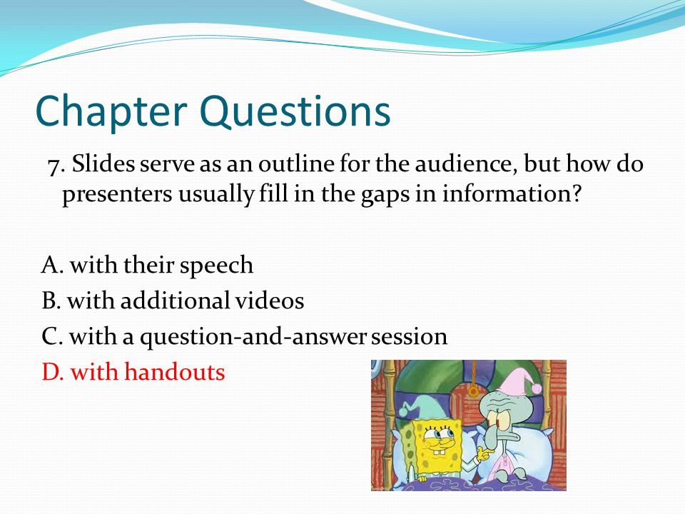 Chapter Questions 7.