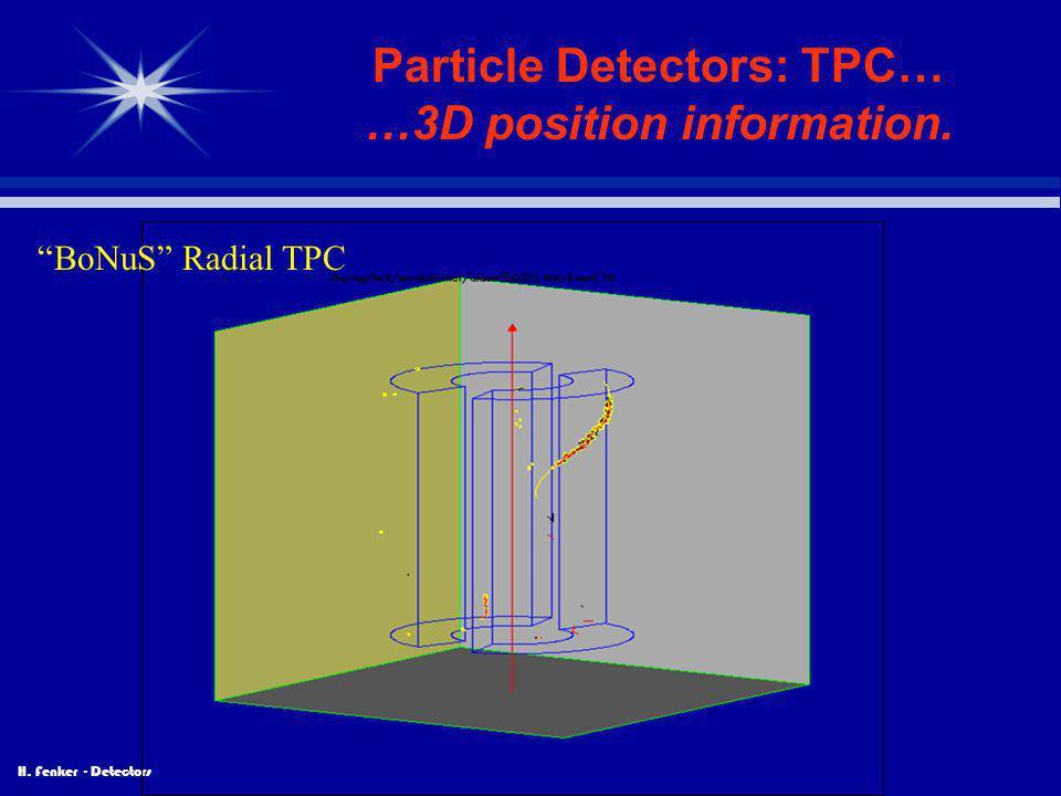"""H. Fenker - Detectors Particle Detectors: TPC… …3D position information. """"BoNuS"""" Radial TPC"""