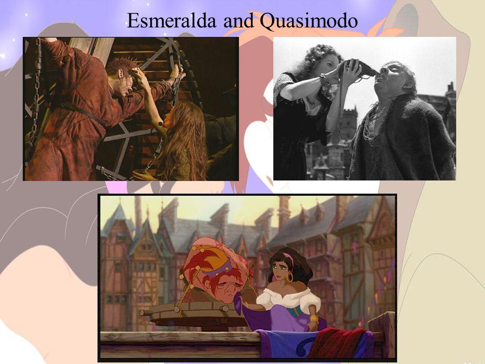 Esmeralda and Quasimodo