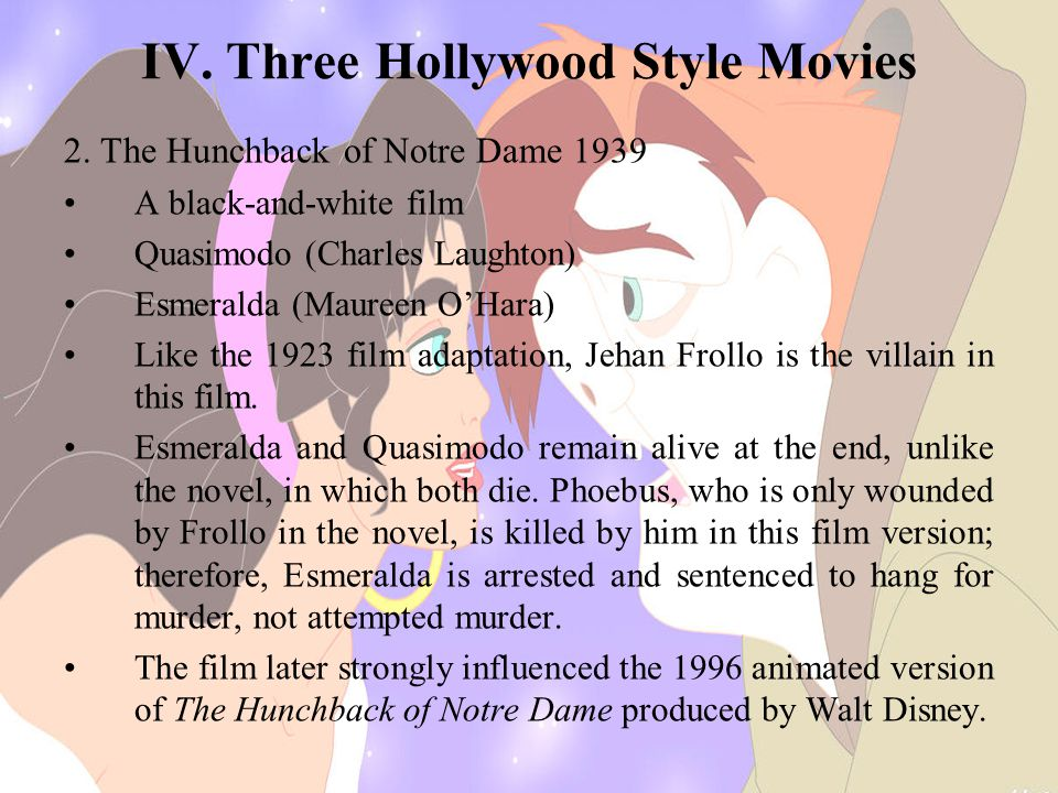 IV.Three Hollywood Style Movies 2.