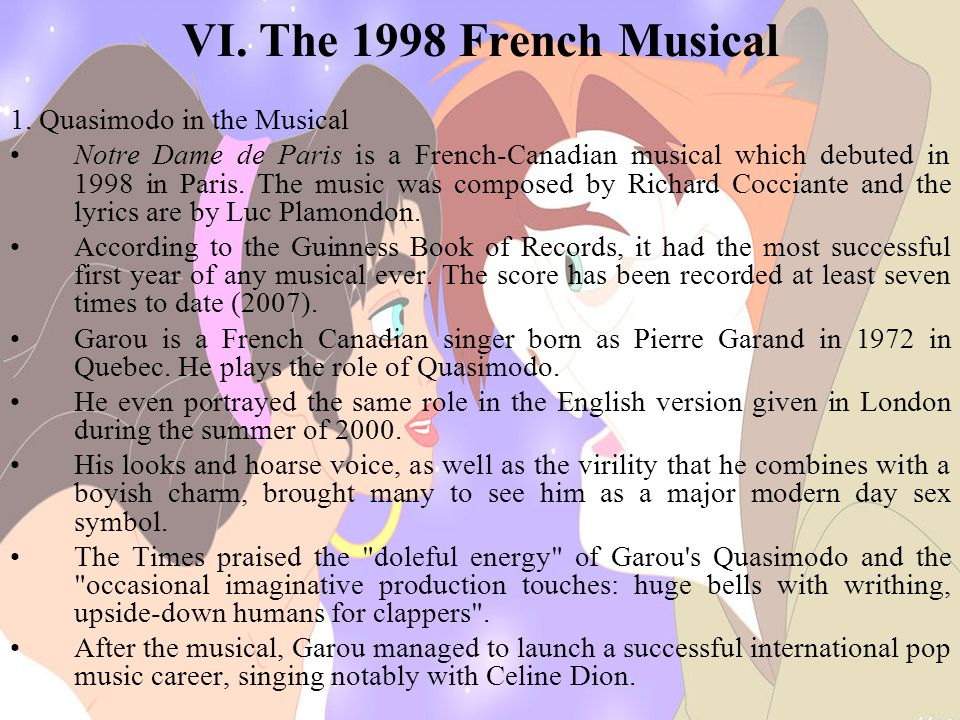 VI.The 1998 French Musical 1.