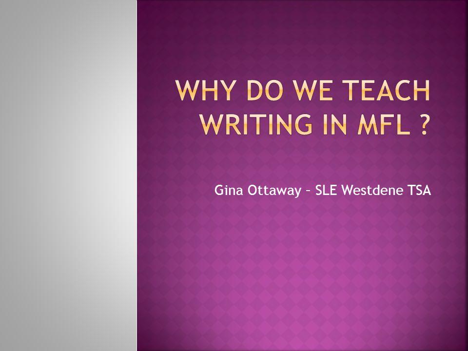 Gina Ottaway – SLE Westdene TSA