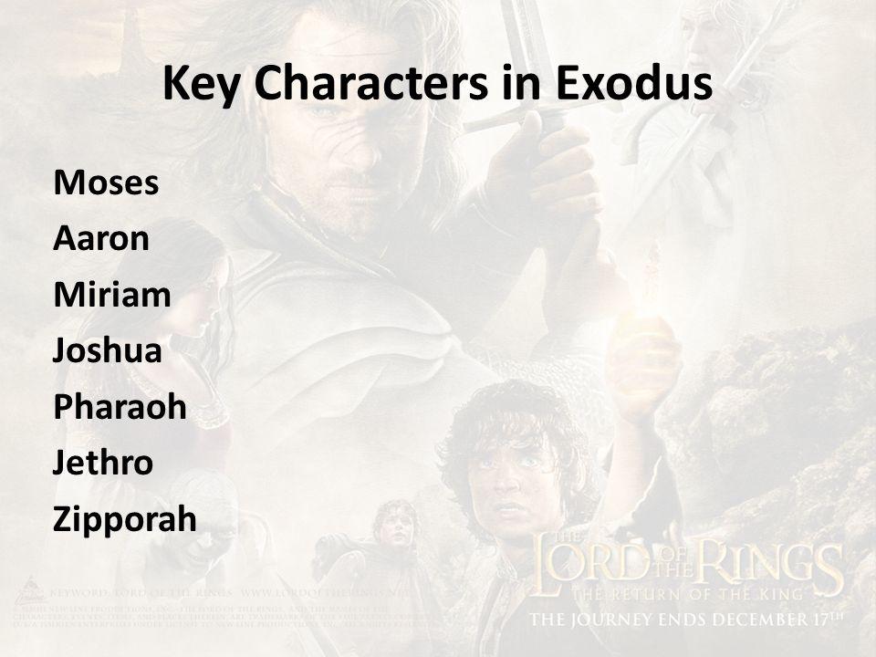 Key Characters in Exodus Moses Aaron Miriam Joshua Pharaoh Jethro Zipporah