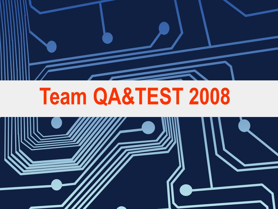 Team QA&TEST 2008