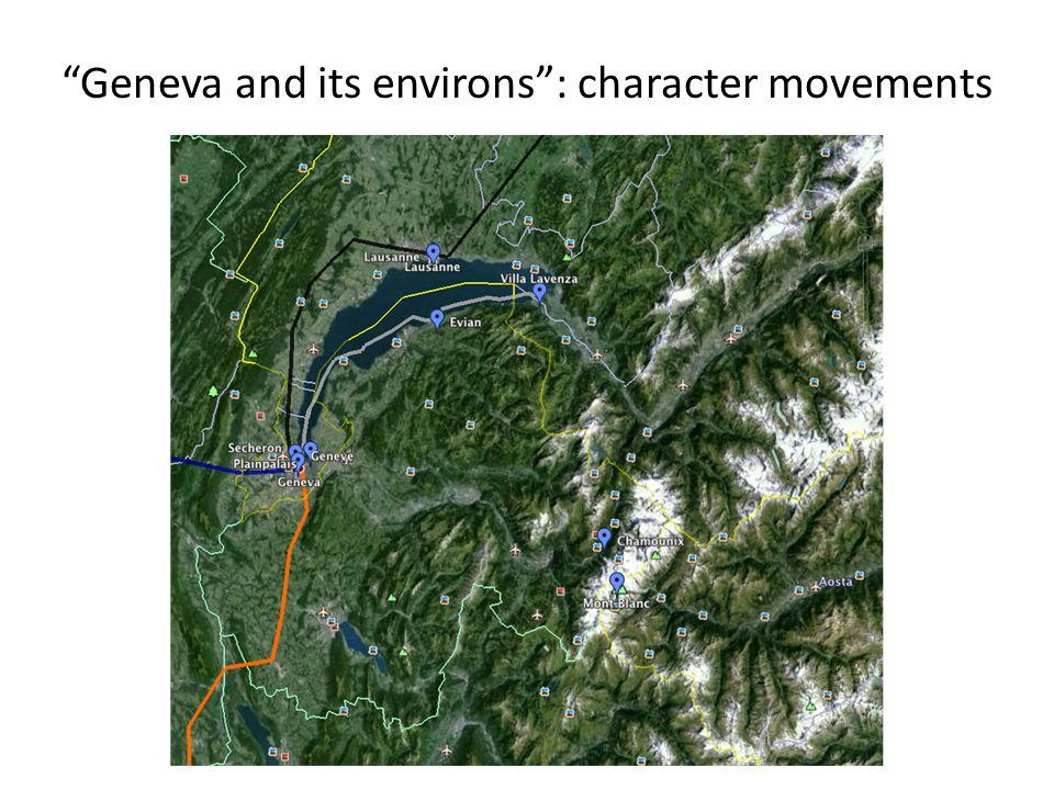 """""""Geneva and its environs"""": character movements"""