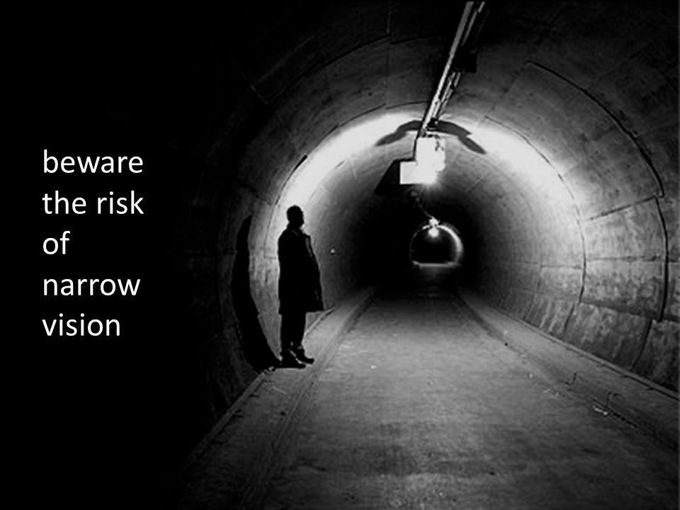 beware the risk of narrow vision