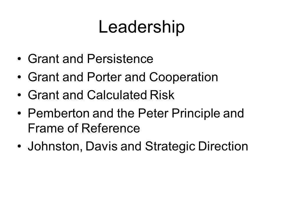 The Peter Principle and Frame of Reference John Pemberton
