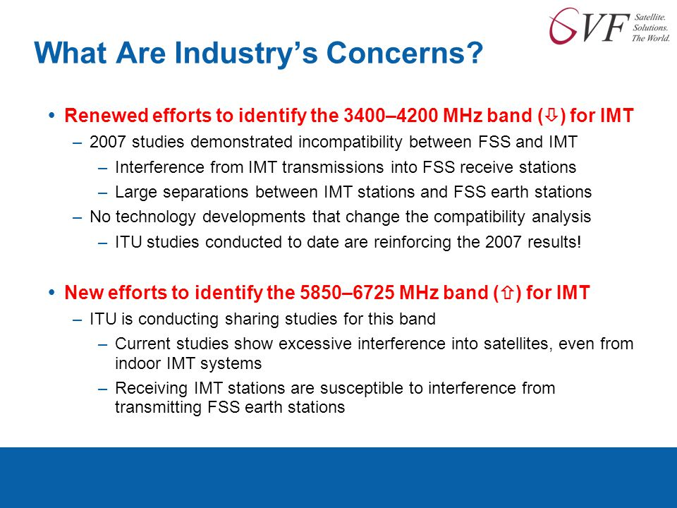 What Are Industry's Concerns.