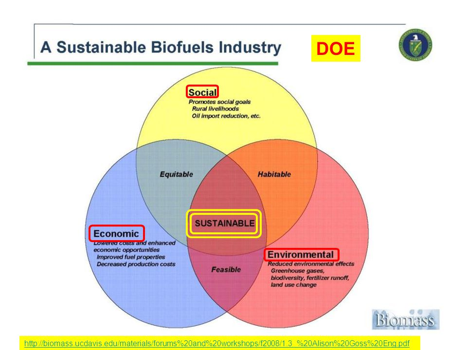 7 http://biomass.ucdavis.edu/materials/forums%20and%20workshops/f2008/1.3_%20Alison%20Goss%20Eng.pdf DOE