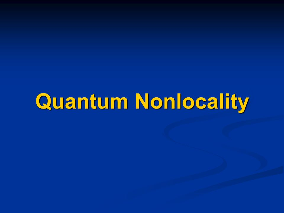 Quantum Nonlocality