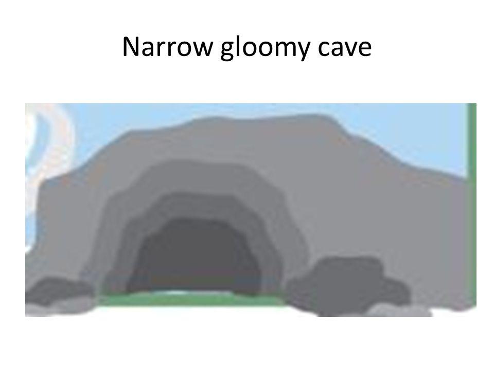 Narrow gloomy cave