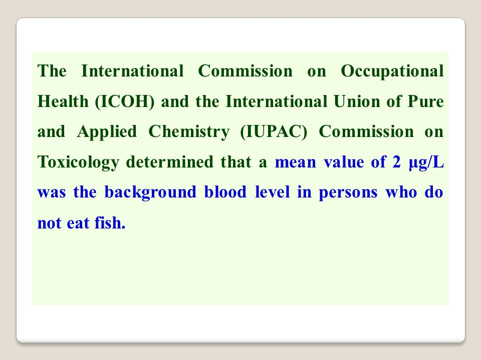 The International Commission on Occupational Health (ICOH) and the International Union of Pure and Applied Chemistry (IUPAC) Commission on Toxicology
