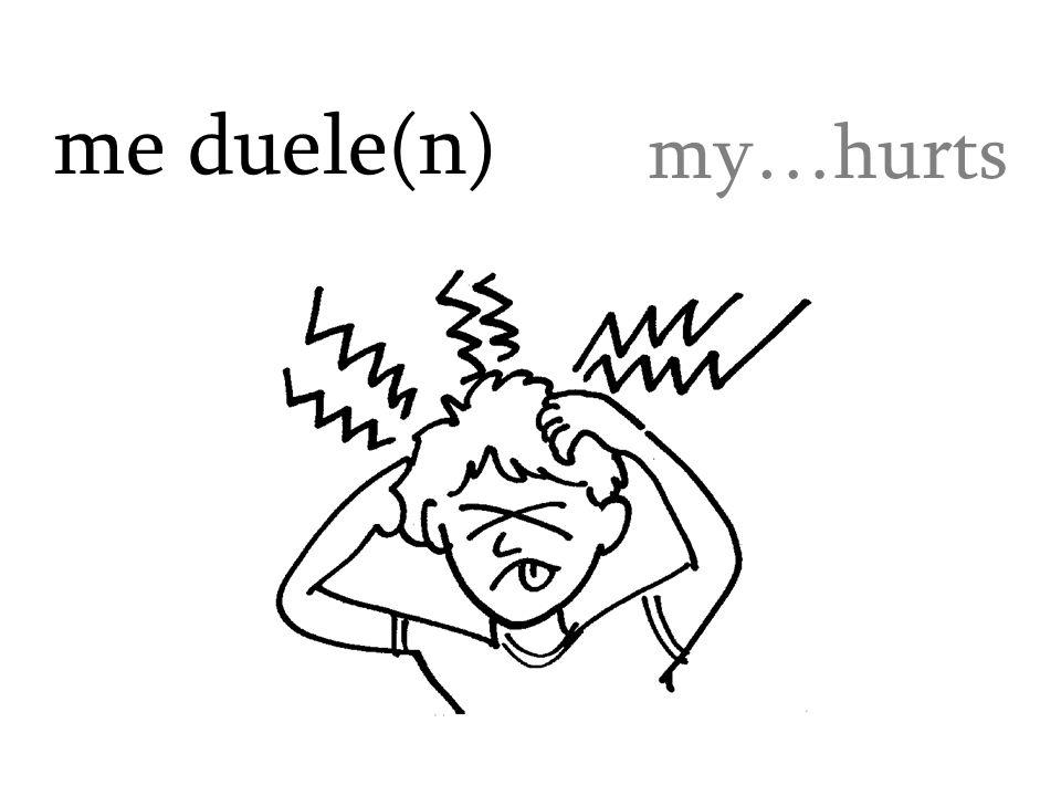 me duele(n) my…hurts