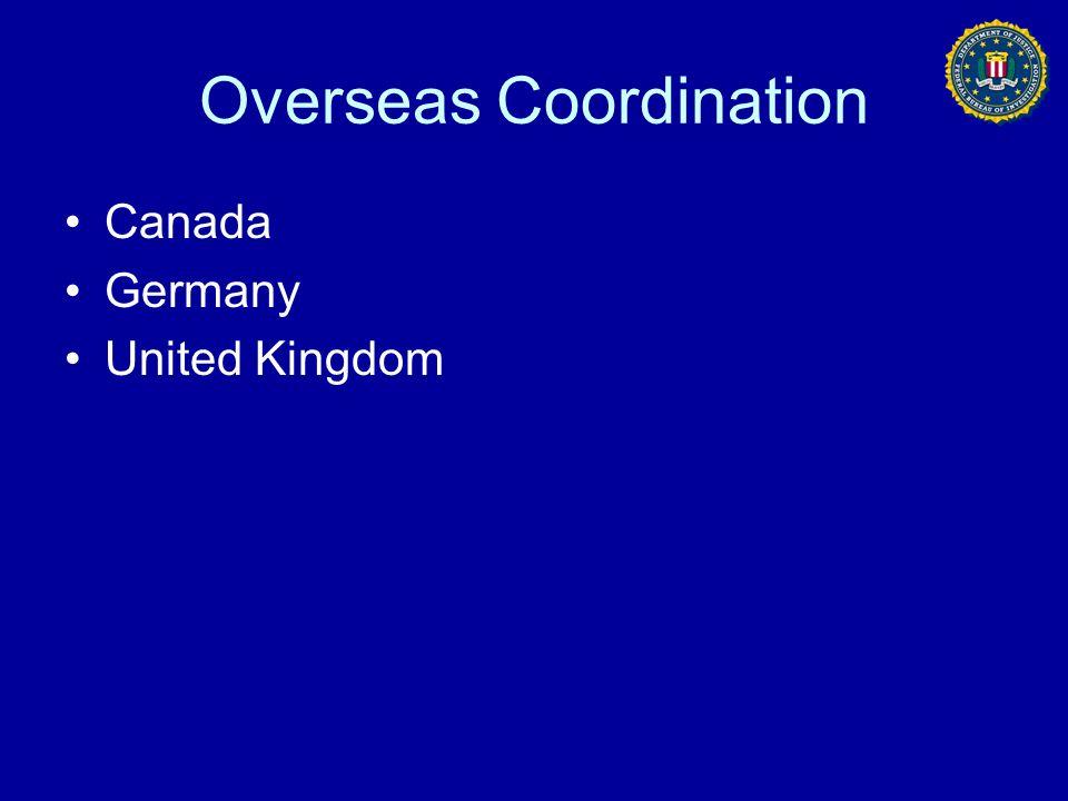 Overseas Coordination Canada Germany United Kingdom