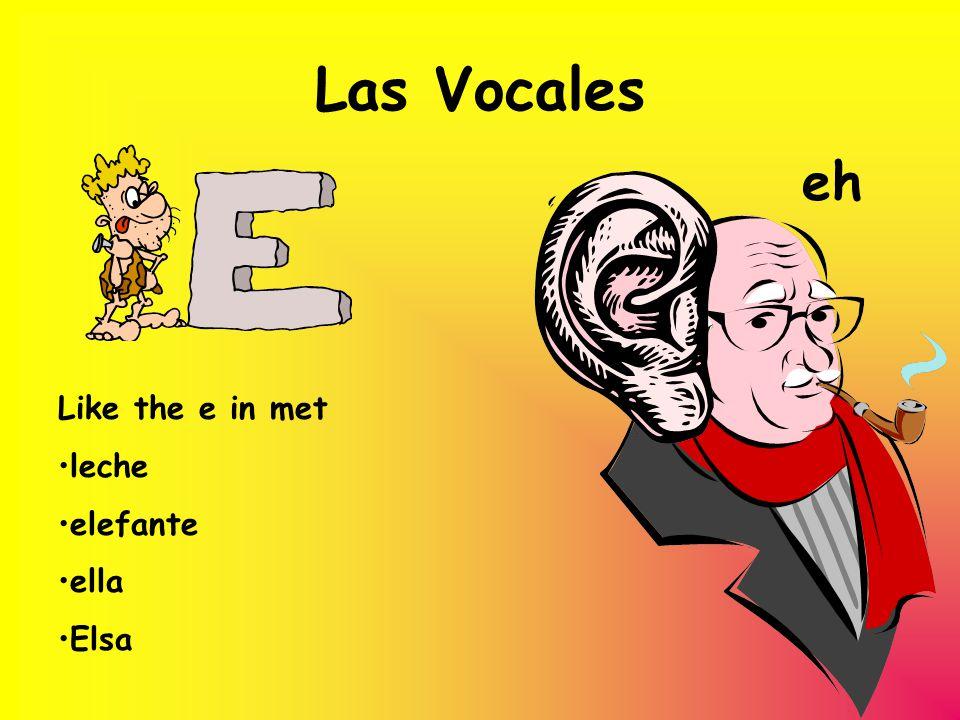 Las Vocales eh Like the e in met leche elefante ella Elsa