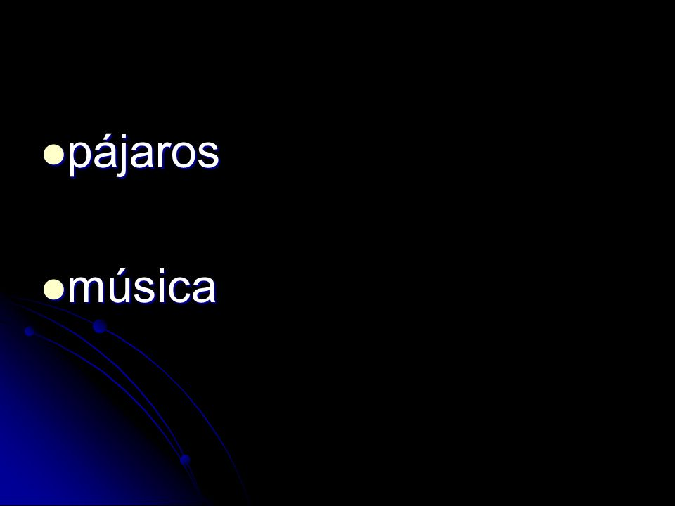 pájaros pájaros música música