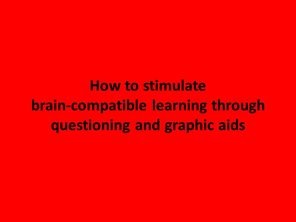 How to stimulate brain-compatible learning through questioning and graphic aids