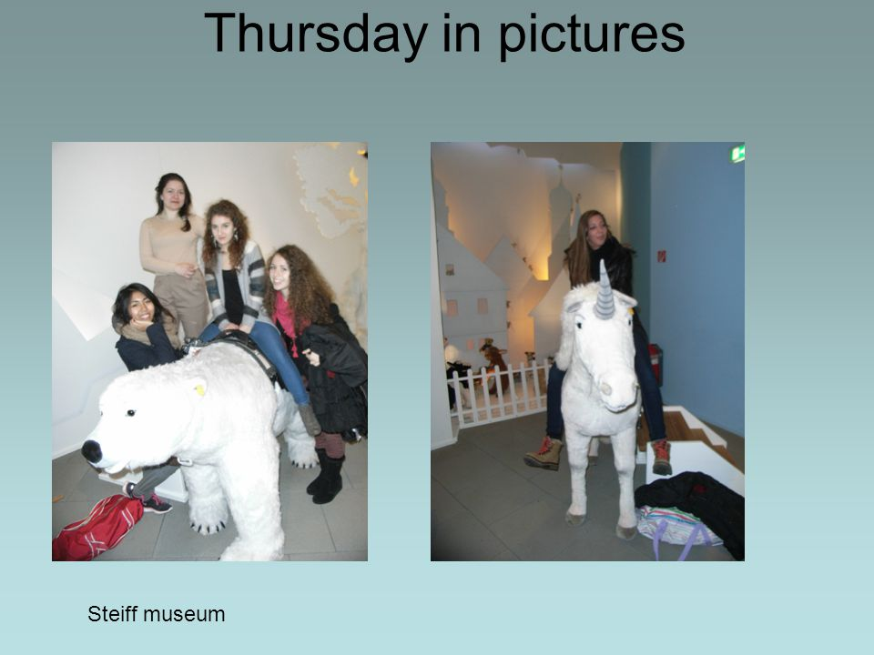 Thursday in pictures Steiff museum