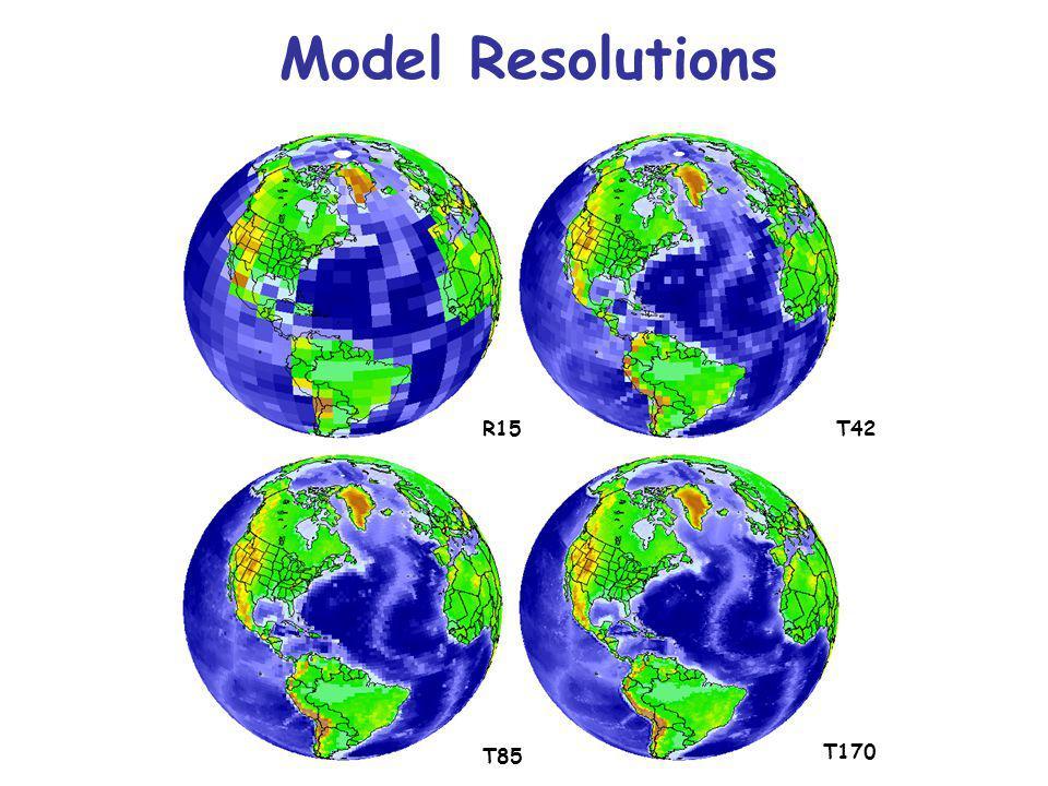 R15T42 T85 T170 Model Resolutions