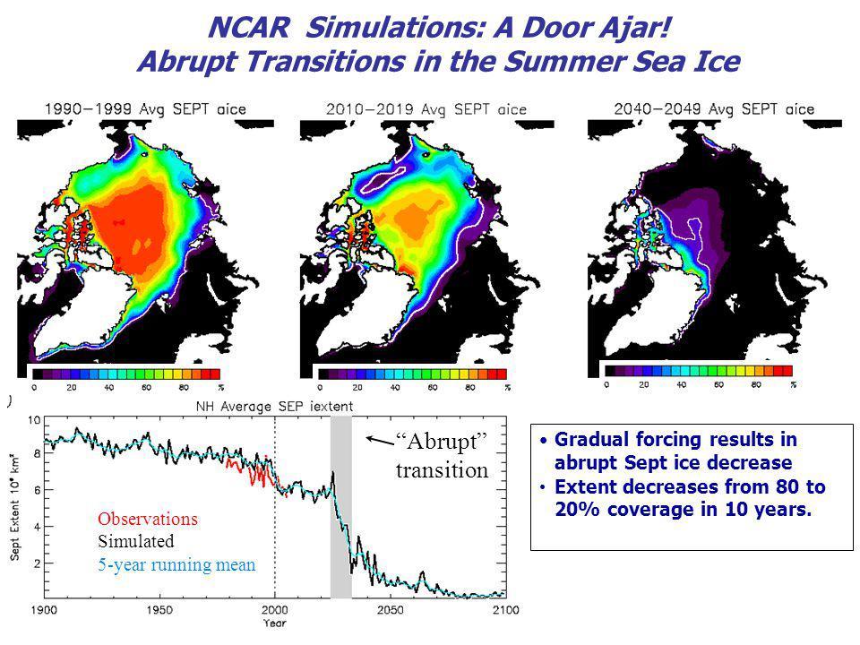 NCAR Simulations: A Door Ajar.