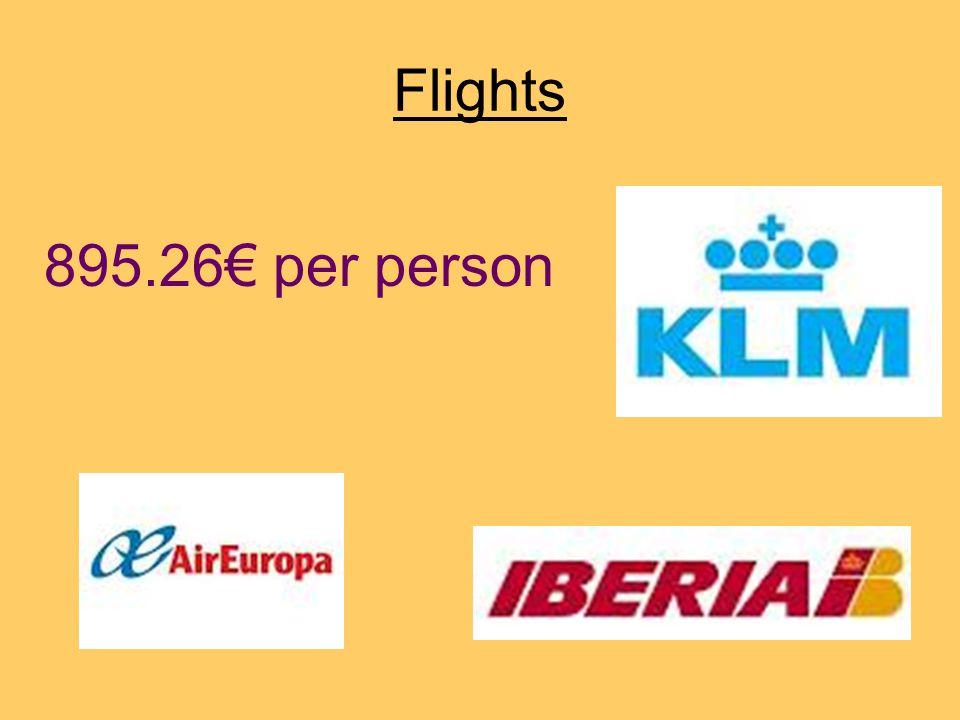 Flights 895.26€ per person