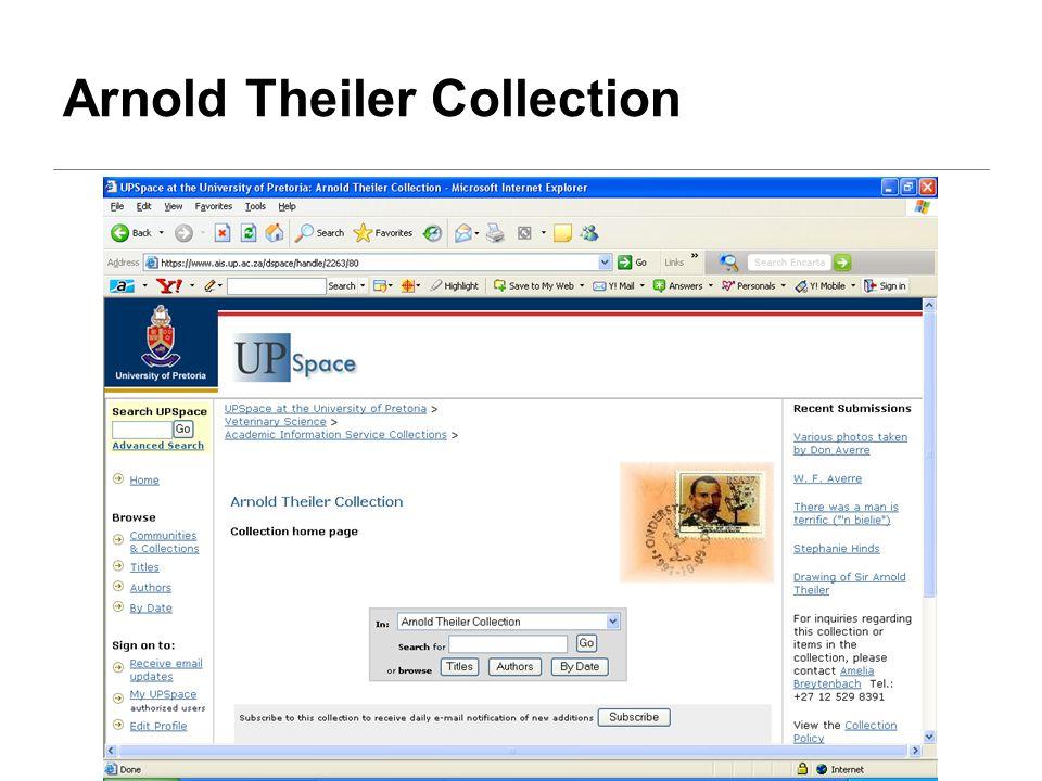 Arnold Theiler Collection
