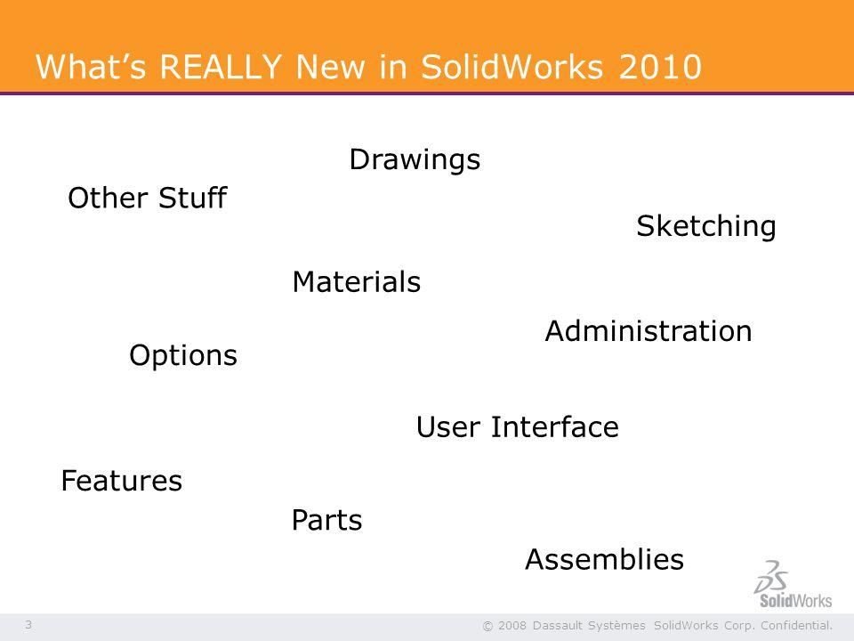 3 © 2008 Dassault Systèmes SolidWorks Corp. Confidential.