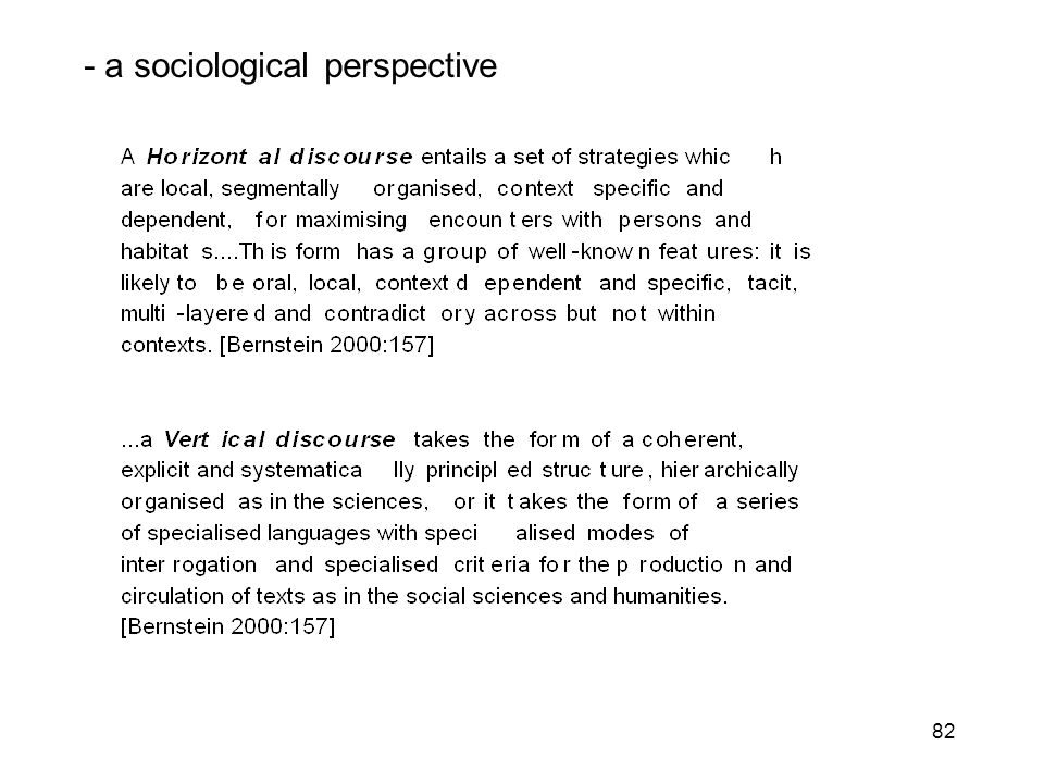 82 - a sociological perspective