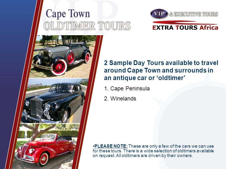 PLEASE NOTE: These are only a few of the cars we can use for these tours.