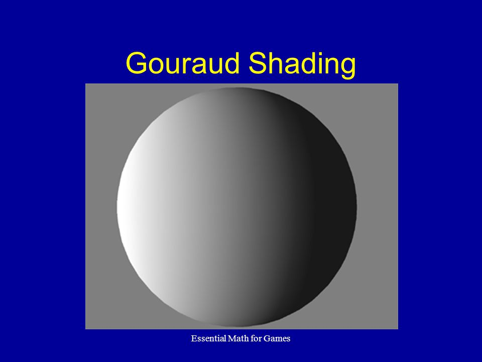 Essential Math for Games Gouraud Shading