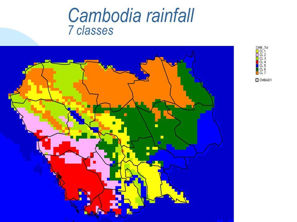 Cambodia rainfall 7 classes