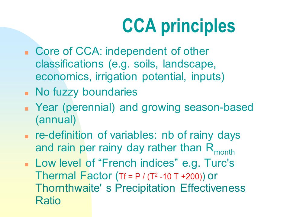Why a new CCA.