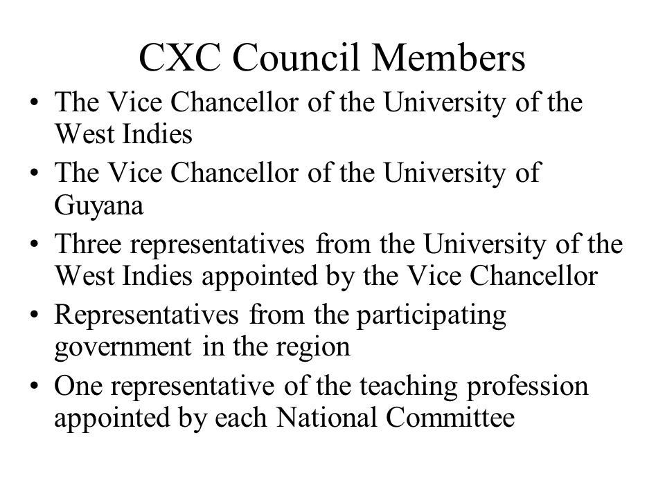 The Caribbean Examination Council(CXC) Who are they.