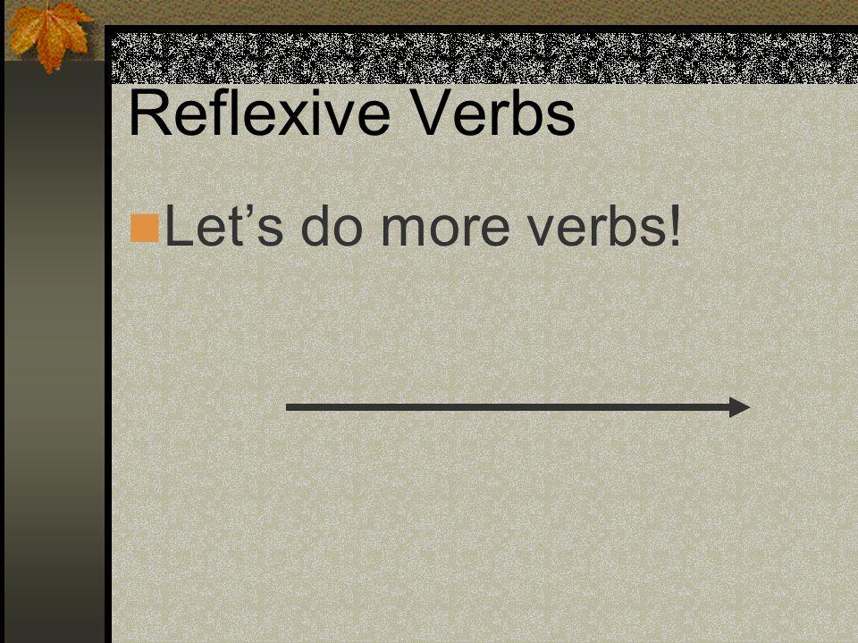 Reflexive Pronouns Before the verb: Me voy a lavar el pelo.