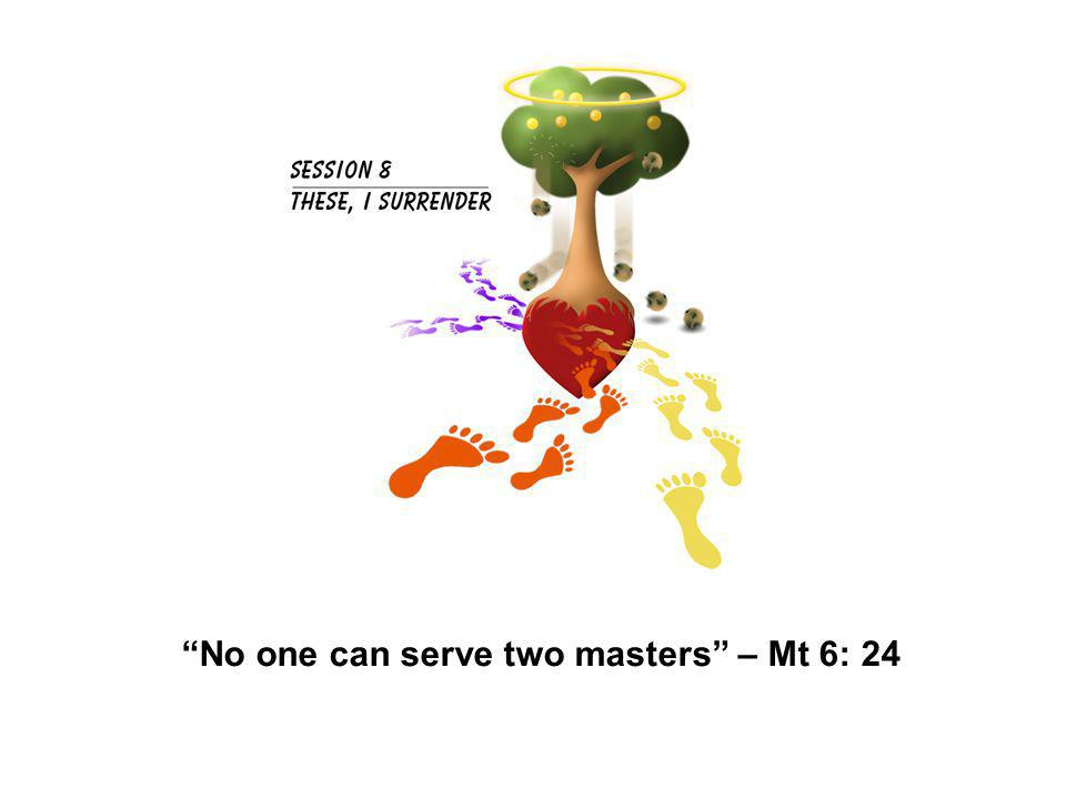 No one can serve two masters – Mt 6: 24