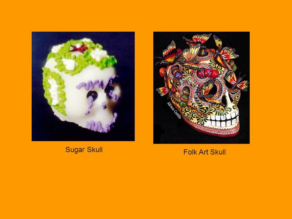 Sugar Skull Folk Art Skull