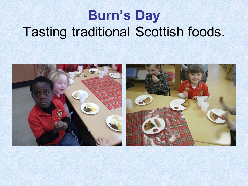 Burn's Day Tasting traditional Scottish foods.