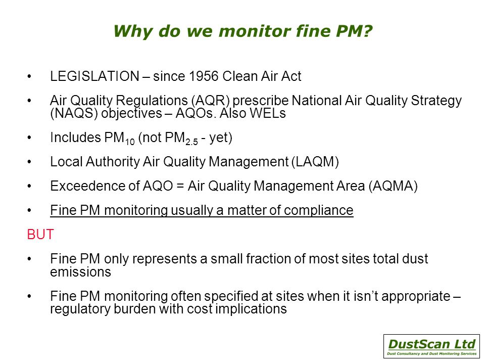 Why do we monitor fine PM.
