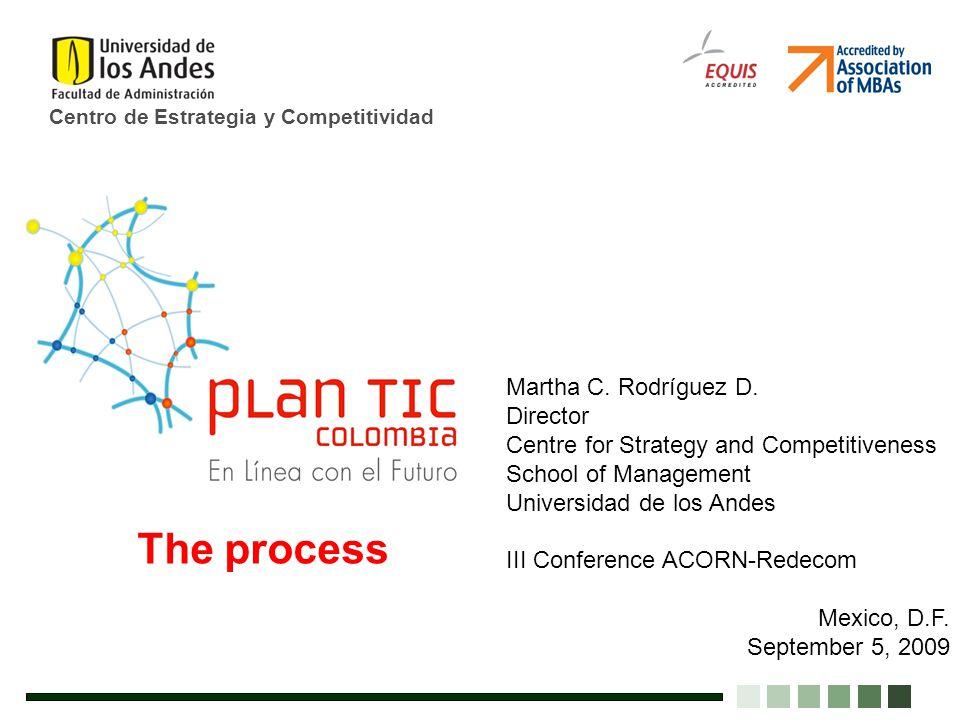 Centro de Estrategia y Competitividad Martha C. Rodríguez D. Director Centre for Strategy and Competitiveness School of Management Universidad de los