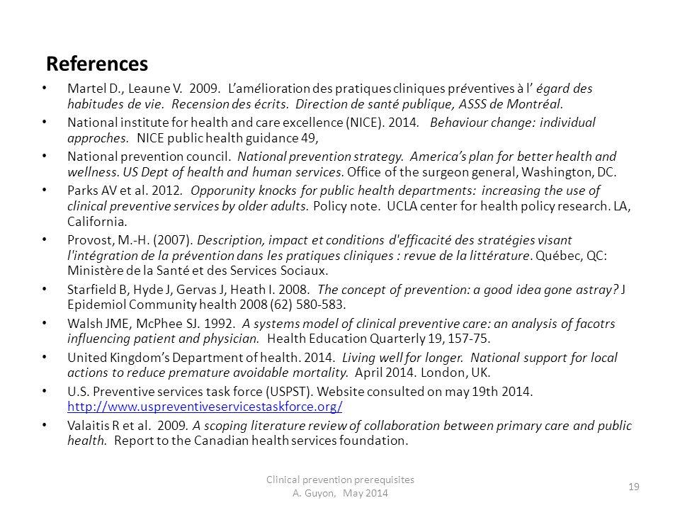 References Martel D., Leaune V. 2009.