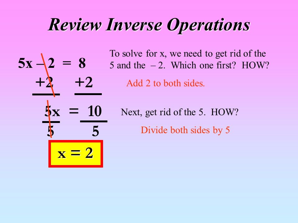 To solve literal equations: --- Identify the variable for which you are solving…the one we want to isolate.