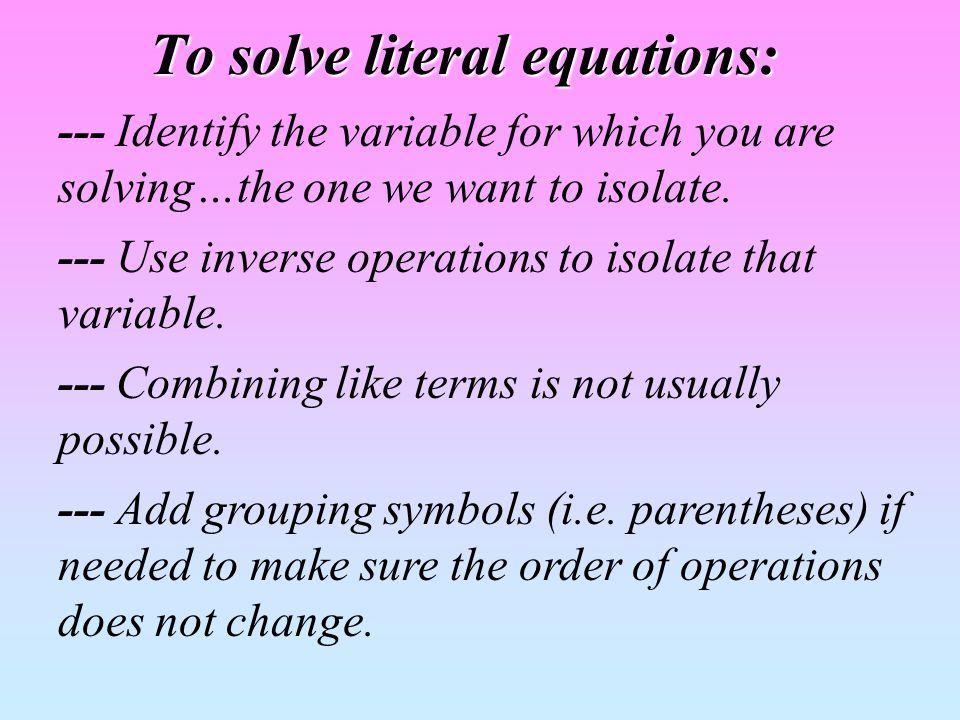 Solve m + a = p for m.m + a = p We need to get rid of the + a.