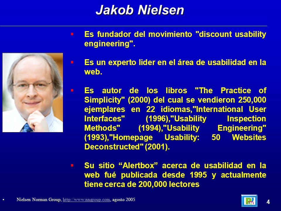  Es fundador del movimiento discount usability engineering .